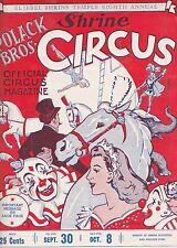 POLACK BROS.SHRINE CIRCUS 1949 PROGRAM-DENVER