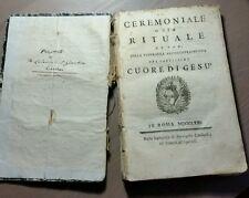 """Libro """"CERIMONIALE RITUALE Cuore di Gesù"""" In Roma MDCCLXXL"""