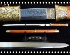 Handmade Petunia Fittings Chinese Straight Damascus Steel Blade Kiriha Zukuri Sw