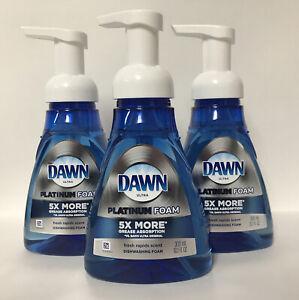 (3) Dawn Ultra Platinum Foam-Fresh Rapids Scent-Dishwashing Foam-10.1oz. Each