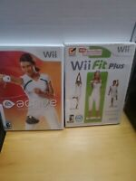 EA Sports Active: Personal Trainer and Wii Fit plus (Nintendo Wii) lot w/case