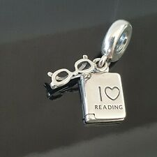 Pandora I Love Reading Glasses Book Spectacle Dangle Charm 791984 Free Postage