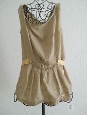 Top mit Kette TUNIKA Longtop Top Shirt Longshirt Kleid Langkleid creme