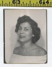 Vintage 1950's PHOTOBOOTH photo / Sexy Mature Latina Woman in Strapless Dress