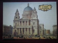 POSTCARD LONDON ST PAULS CATHEDRAL - LINEN FINISH