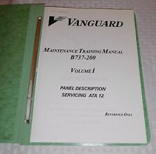 Vintage Vanguard Airlines Maintenance Boeing 737-200 3 volumes training manuals