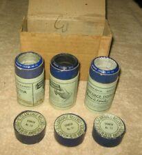 3 Edison Blue Amberol I.C.S. Language Spanish Cylinder Records 20, 21 & 23 w Box