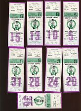 1975-76 NBA Basketball Boston Celtics Full Tickets 9 Different