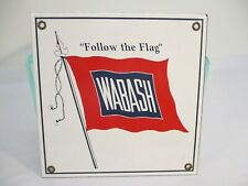 Wabash Porcelain Railroad Sign Red, White on Metal X3581