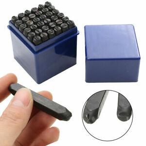 PDR* Set punzoni stampini alfanumerici 36 pezzi lettere numeri 4 - 6 - 8 mm