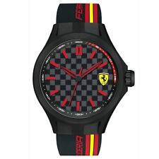 Ferrari 830217 Gent's Pit Crew Silicone Band Black Dial Watch
