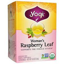 Certified Organic Yogi Tea Raspberry Leaf for Female System / Pregnancy 16 Bags