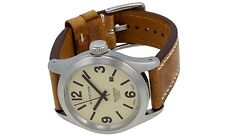 Glycine Men's Watch Incursore Brown Leather Strap Swiss Automatic 3874.15 LB7BH