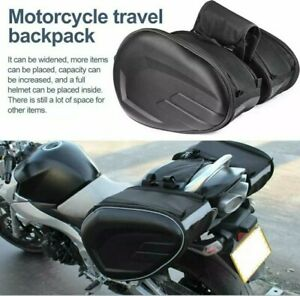 SSPEC Universal Motorcycle Pair  Side Panniers. Expandable to 58L.