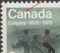 """Error - Variety  BLUE DOT on """"N"""" in """"CANADA"""" Canada 1975 #667i  [ec14]"""