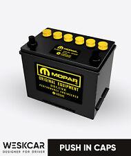 Mopar Battery S24MY yellow (1966-74) Push in Caps kit