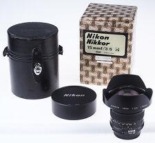 Nikon NIKKOR 3,5/15mm 15 Ai BOXED, as new WIE NEU Nikon-Fachhändler * 2533