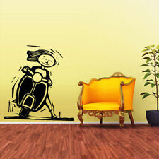 Wall Vinyl Sticker Decal Moto Bike Motorcycle Scooter Old Retro (Z1947)