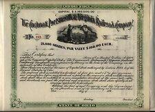 189_ Cincinnati Portsmouth & Virginia Railroad Company Stock Certificate Ohio