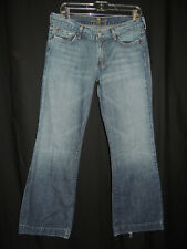 "Size 32 Seven For All Mankind ""DOJO"" Women's Distressed Flare Leg Denim Jeans"