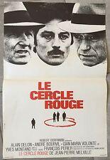 Affiche LE CERCLE ROUGE Bourvil JEAN-PIERRE MELVILLE Alain Delon 40x60cm 1970