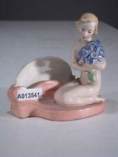 +# A013541 Goebel Archivmuster FZ38/3 Spiegelmontage nackte Frau m. Blumen TMK1