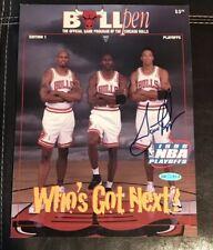 Scottie Pippen signed Chicago Bulls 1996 Playoff Program UDA Best Cover!!