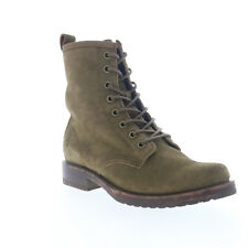 Frye Veronica Combat 70588 Womens Green Suede Lace Up Casual Dress Boots