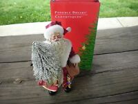 Possible Dreams Clothtique Yuletide Evergreen Santa in Original Box #713125!!!