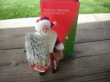 Possible Dreams Clothtique Yuletide Evergreen Santa in Original Box #713125!