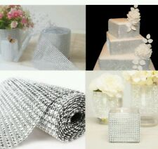 Diamond Mesh Wrap Roll Sparkle Rhinestone Crystal Ribbon for Wedding Decoration