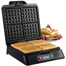 VonShef Electric Kitchen Quad Steel Belgian Waffle Maker