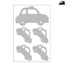 Reflektierende Bügelbilder Autos, 5 Stück. Reflektor Bügelmotiv für Kinder, Cars