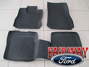 17 thru 20 Lincoln Continental OEM Ford Tray Style Molded Floor Mat Set 4-pc NEW