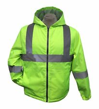Hi-Vis Insulated Safety Bomber Reflective Jacket ROAD WORK HIGH VISIBILITY XL