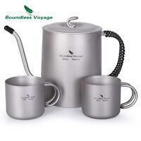 Outdoor Titanium Gooseneck Spout Coffee Pot Tea Kettle Maker for Camping Hiking
