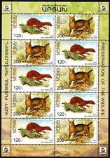 ARMENIA ARTSAKH / KARABAKH 2020-04 Protected Wild Animals. Combined M-SHEET, MNH