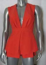 Finders Keepers Persimmon Orange S Sleeveless Revolve Romper Open Back Lined