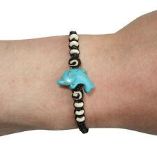 Dolphin Bracelet Beaded Wristband Bangle Mens Womens Boys Girls Ladies Jewellery