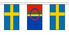 More details for sweden friendship flag polyester bunting - premium quality