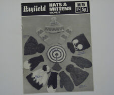 Vintage Knitting Pattern Hayfield Hats & Mittens Booklet H/5