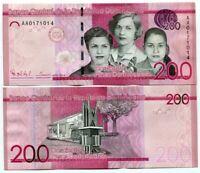 DOMINICAN REPUBLIC 200 PESOS 2014 P 191 UNC