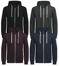 JACK & JONES New Mens Holmen Cotton Zip Up Hooded Sweatshirt Top Hoodie