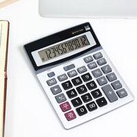 12 Digit Large LCD Display Desk Calculator Dual Power for Office School Retailer