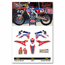 2014-2016 HONDA CRF 250 MAV TV Dirt Bike Graphics kit Motocross Graphics Decal