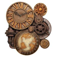 Design Toscano NG33981 Gears of Time Sculptural Wall Clock