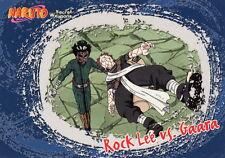 NARUTO SECRET WEAPONS 2007 INKWORKS/PANINI PROMO CARD P-I ROCK LEE VS. GAARA