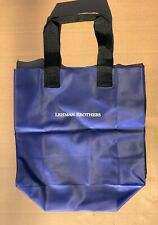 Lehman Brothers | Vinyl Tote Bag | Corporate | Business | Blue and Black
