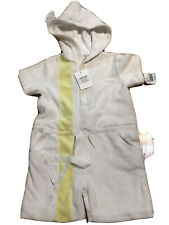 New Marie Chantal Hoodie One Piece Toweling Romper Size 5