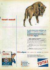 B- Publicité Advertising 1959 Huile Moteur Altigrade Total ...Bison